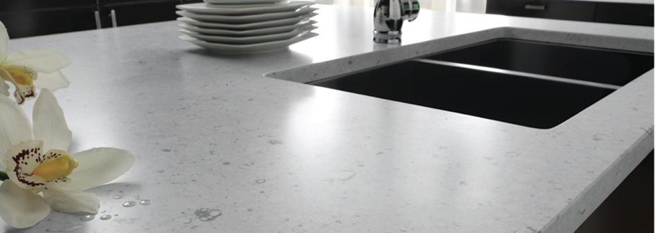 Bianco River Silestone Quartz Kitchen Countertop