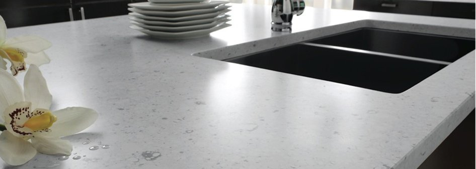 Bianco River Silestone Quartz Kitchen Countertop