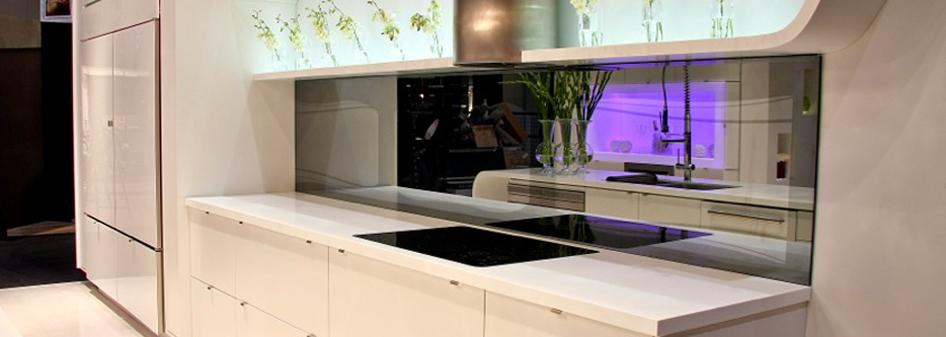 Glacier White Corian Kitchen Countertop