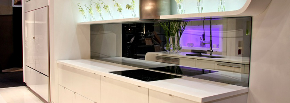 Glacier White Corian Kitchen Countertop