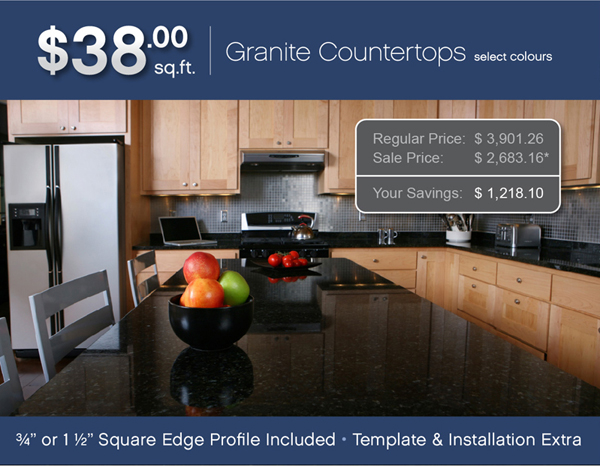 38 square foot granite limited promotion for Granite remnant cost per square foot